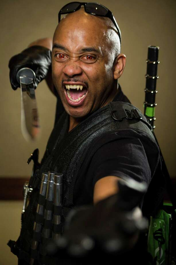 "Anthony Gibson, dressed as ""Blade,"" poses for a portrait on the third day of the annual Emerald City Comicon on Sunday, March 3, 2013, in the Washington State Convention Center in Seattle, Wash. Photo: JORDAN STEAD / SEATTLEPI.COM"