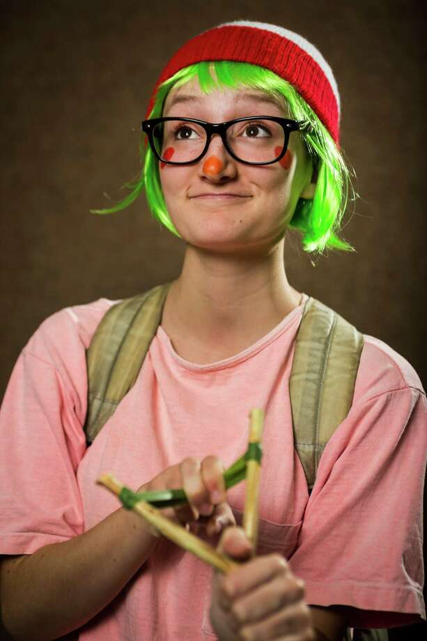 "Natalya Garcia, dressed as ""Vloop"" from Animal Crossing, poses for a portrait on the third day of the annual Emerald City Comicon on Sunday, March 3, 2013, in the Washington State Convention Center in Seattle, Wash. Photo: JORDAN STEAD / SEATTLEPI.COM"