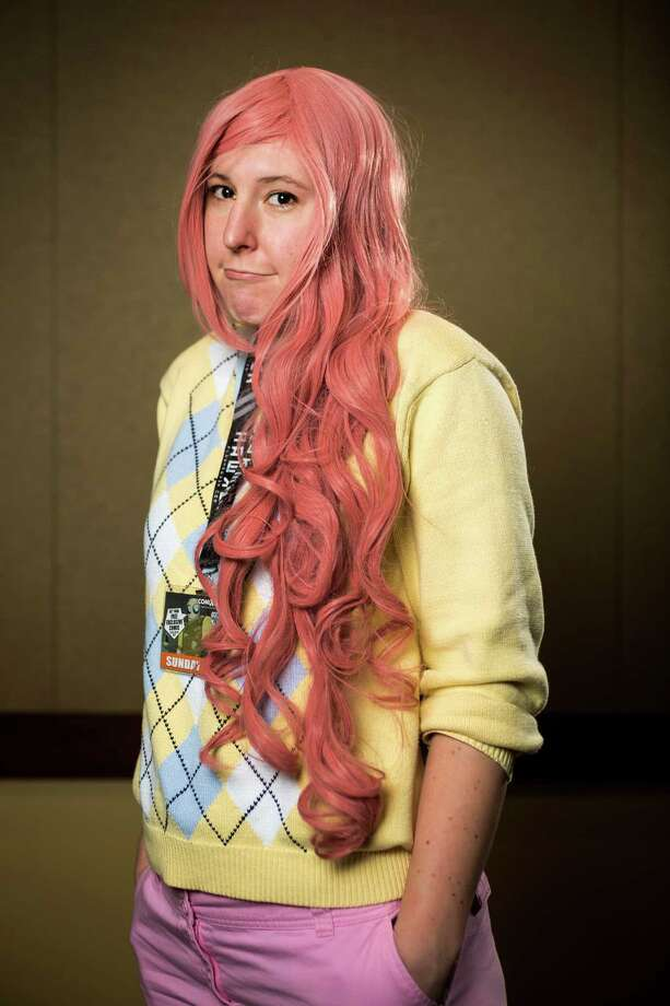 "Laurel McGinley, dressed as ""Fluttershy"" from My Little Pony, poses for a portrait on the third day of the annual Emerald City Comicon on Sunday, March 3, 2013, in the Washington State Convention Center in Seattle, Wash. Photo: JORDAN STEAD / SEATTLEPI.COM"