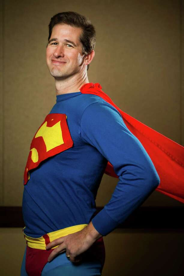 "John Nierenberg, dressed as ""Superman,"" poses for a portrait on the third day of the annual Emerald City Comicon on Sunday, March 3, 2013, in the Washington State Convention Center in Seattle, Wash. Photo: JORDAN STEAD / SEATTLEPI.COM"
