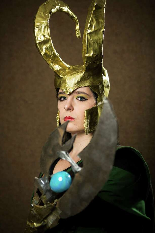 "Alissa Degman, dressed as ""Lady Loki,"" poses for a portrait on the third day of the annual Emerald City Comicon on Sunday, March 3, 2013, in the Washington State Convention Center in Seattle, Wash. Photo: JORDAN STEAD / SEATTLEPI.COM"