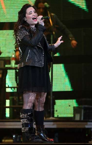 Demi Lovato performs during Houston Livestock Show and Rodeo at Reliant Stadium on Sunday, March 3,