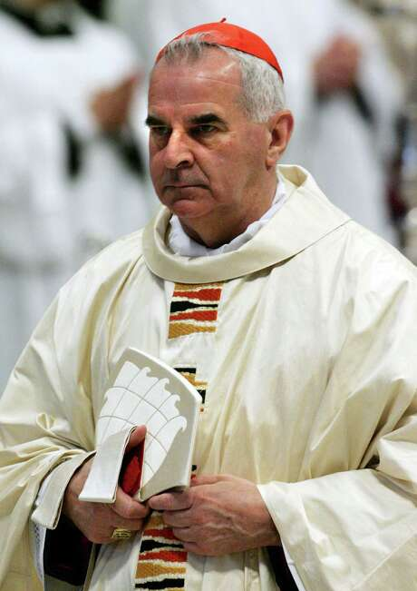 (FILES) In a file picture taken on April 16, 2005 Britain's Cardinal Keith O'Brien arrives for a mass celebrated by Cardinal Jorge Arturo Medina Estevez of Chile in St Peter's Basilica at the Vatican. O'Brien, Britain's most senior Roman Catholic cleric, admitted on March 3, 2013 sexual misconduct and offered his apologies to the Church and the people of Scotland. AFP PHOTO / THOMAS COEXTHOMAS COEX/AFP/Getty Images Photo: THOMAS COEX, Staff / AFP