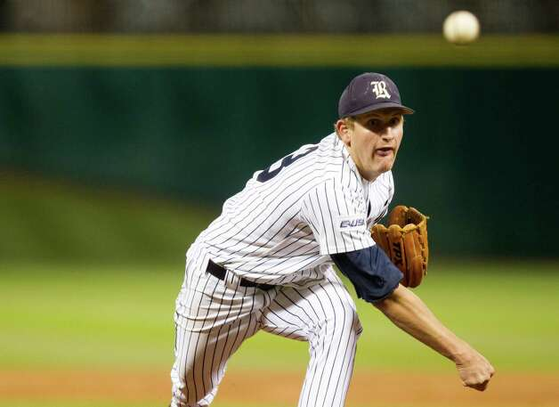 Rice pitcher John Simms during the Astros Foundation College Classic against Baylor  at Minute Maid Park on Sunday, March 3, 2013, in Houston. Photo: J. Patric Schneider, For The Chronicle / © 2013 Houston Chronicle