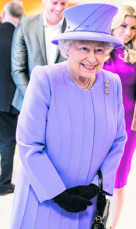 LONDON, ENGLAND - FEBRUARY 27: Queen Elizabeth II meets 7/7 survivor Bruce Lait and his family during her tour to open the new Royal London Hospital building and the new National Centre for Bowel Research and Surgical Innovation on February 27, 2013 in London, England. (Photo by Ian Gavan - WPA Pool/Getty Images) Photo: Ian Gavan, Staff / Getty Images Europe