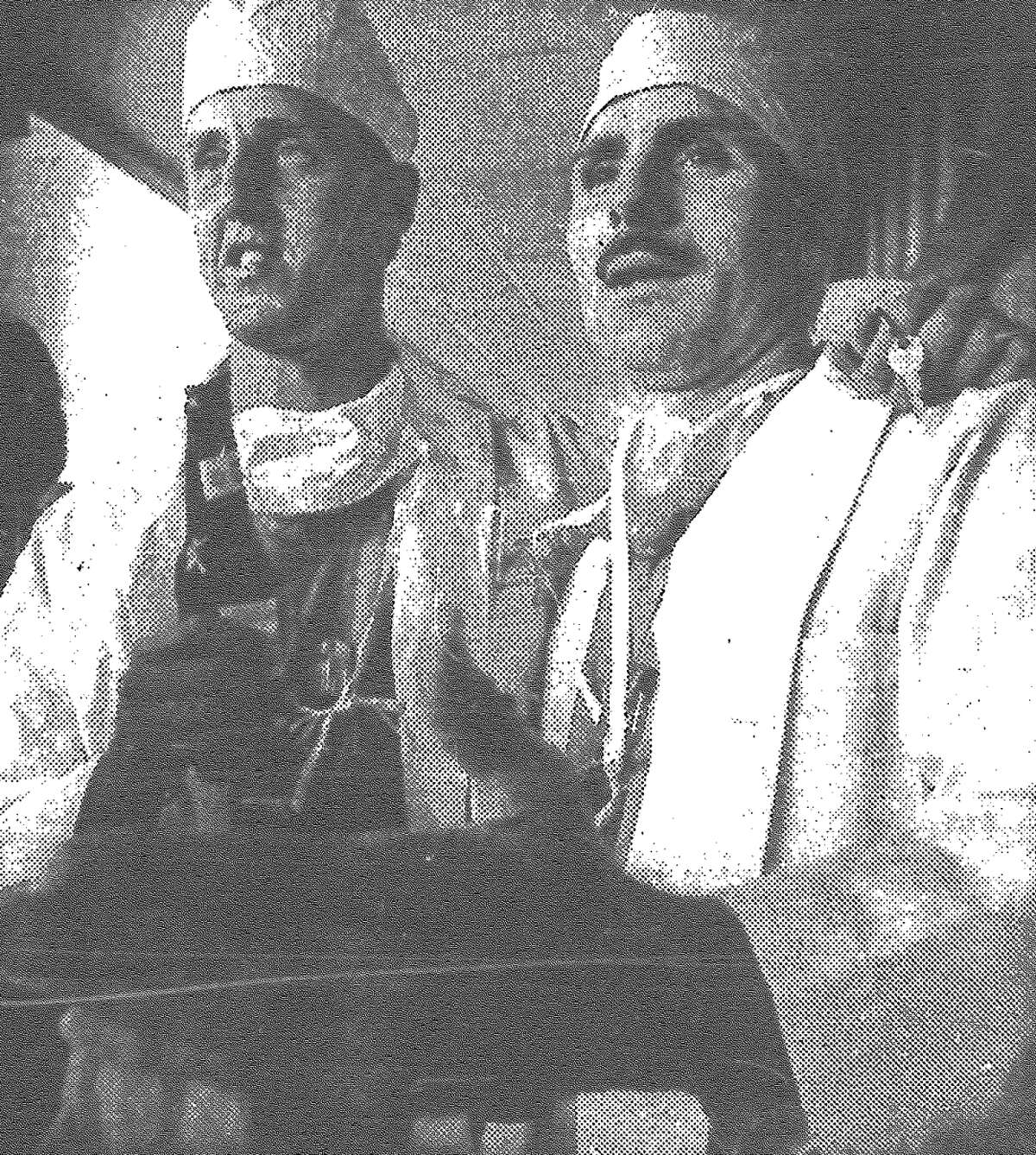 Among the M*A*S*H addicts who crowded Doc Holiday to bid adieu to the 11-year-old series Monday night were Mike Mokri and Joe Potoky. Droves of San Antonians dressed in Army fatigues, surgeon's garb and spinoffs from the