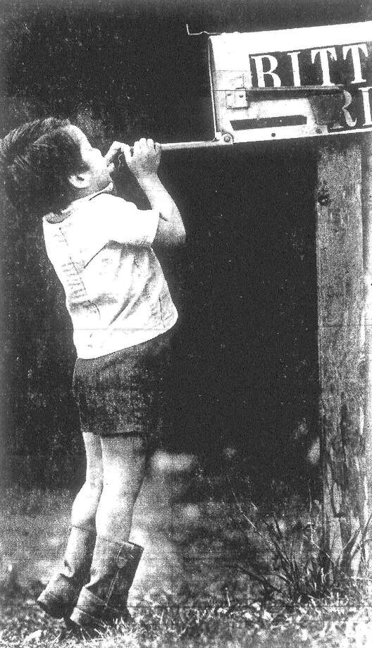 Randy Williams, 4, goes through his daily routine of checking the mail in front of his home in the 2500 block of Bitters Road. Randy is the son of Frank and Marya Williams. Published in the San Antonio Light March 16, 1983. Photo: File Photo