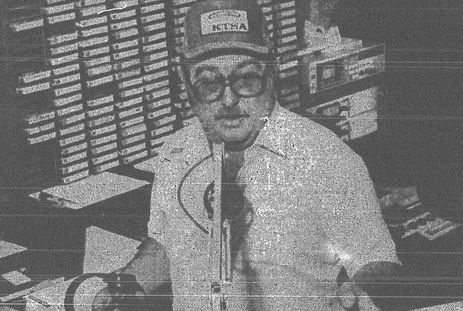 "A quiet Ricci Ware goes on the air his first day back at KTSA. The man who many said was ""the fastest mouth in the West"" will not be making any controversial remarks on KTSA-radio, the station promised listeners in an editorial. Published in the San Antonio News March 17, 1983. Photo: File Photo"