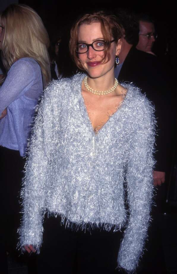 Gillian Anderson in 1995, at an ''X-Files'' party.