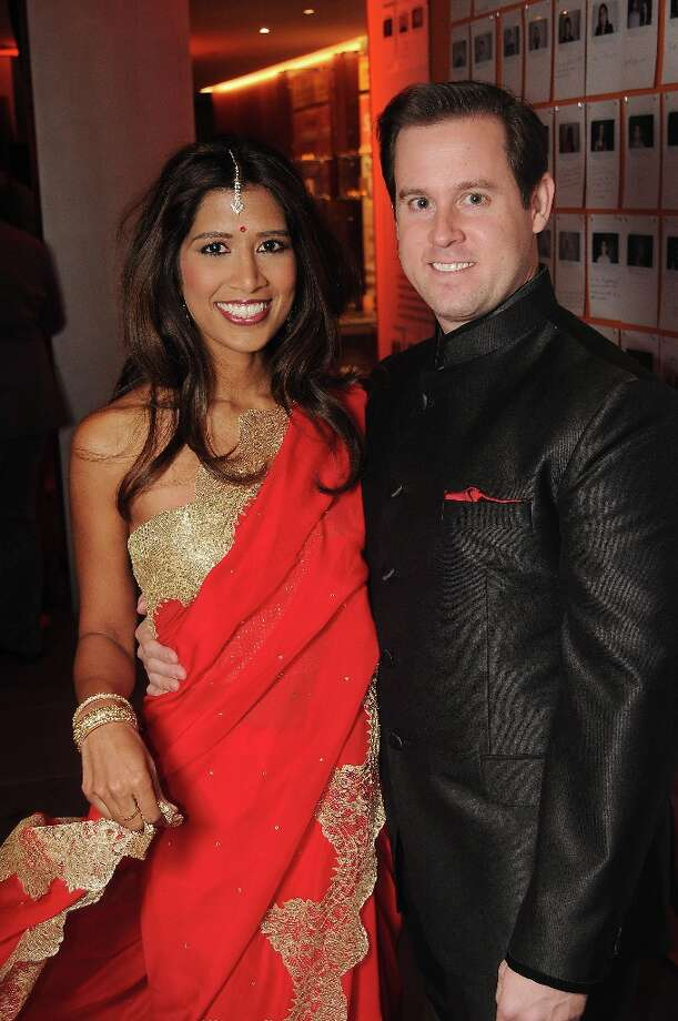 Chairs Divya and Chris Brown at the Spotlight Asia: Cocktails and Cultural Fusions event at the Asia Society Texas Center Saturday March 02, 2013. Photo: Dave Rossman, For The Houston Chronicle / © 2013 Dave Rossman