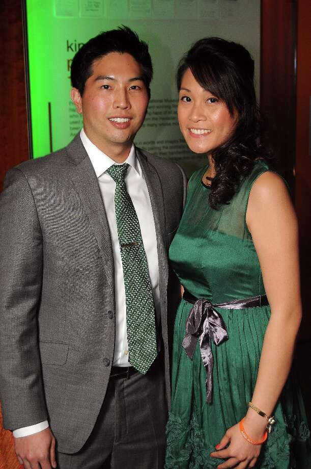 Andrew Chung and Janie Doan at the Spotlight Asia: Cocktails and Cultural Fusions event at the Asia Society Texas Center Saturday March 02, 2013. Photo: Dave Rossman, For The Houston Chronicle / © 2013 Dave Rossman