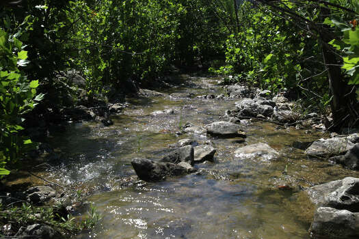 A tributary to Blanco creek flows through foliage on the Marneldo Ranch near Sabinal, Texas. The ranch is a conservation easement and has become part of the City of San Antonio Edwards Aquifer Protection Program. John Davenport/San Antonio Express-News Photo: JOHN DAVENPORT, SAN ANTONIO EXPRESS-NEWS / SAN ANTONIO EXPRESS-NEWS (Photo can be sold to the public)
