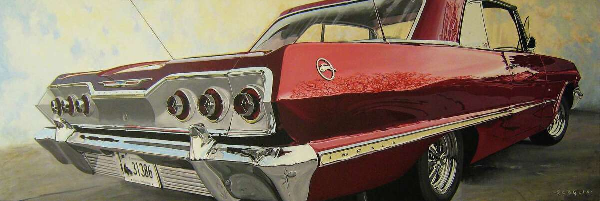 """""""Red Tail"""" by Ken Scaglia is among the artwork on display in """"9SOLOS,"""" opening at the Carriage Barn Arts Center."""