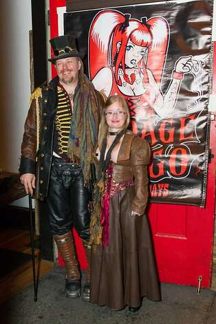 "Hawk Whitbeck, former dungeonmaster at Bondage A-Go-Go (now employed by San Francisco Muni) and his wife, Michelle ""Itty Bitty"" Whitbeck, reminisced with others about the good old days of whips, chains and flogging. Photo: Drew Altizer Photography"