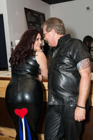 Latex and leather are keys to the Bondage A-Go-Go look, as Davina Darling and Randy Pedaluman know all too well. Photo: Drew Altizer Photography