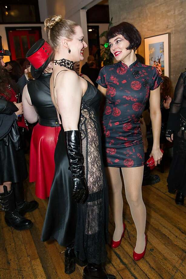 Jenny Diehl and Liz Claire at Bondage A-Go-Go's 20th anniversary party. Photo: Drew Altizer Photography, Laura Morton For Drew Altizer