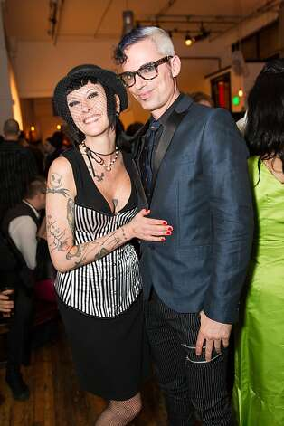 Valerie Keith and Rhett Henderson at Bondage A-Go-Go's 20th anniversary party. Photo: Drew Altizer Photography, Laura Morton For Drew Altizer