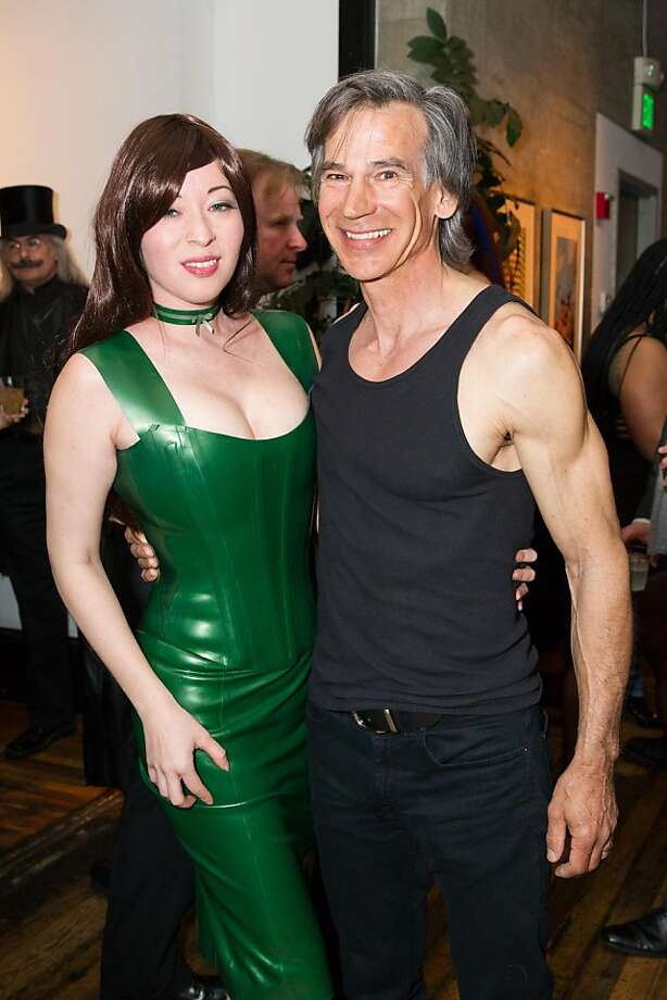 Kumi Mousten, a former fetish model, and Dan Dieguez, a former stage manager and entertainment director of Bondage A-Go-Go, at the club's 20th anniversary party. Photo: Drew Altizer Photography