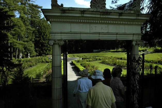 Visitors tour the gardens at Yaddo Sunday, July 10, 2005, in Saratoga Springs, N.Y. (Paul Buckowski/Times Union archive) Photo: Paul Buckowski / Albany Times Union