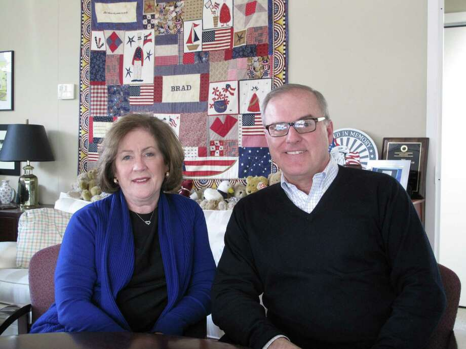 Mary and Frank Fetchet helped establish and lead the Voices of September 11th family advocacy  group out of their New Canaan home following the terrorist attacks that  killed their 24-year-old son Brad and nearly 3,000 others. Photo: Tyler Woods