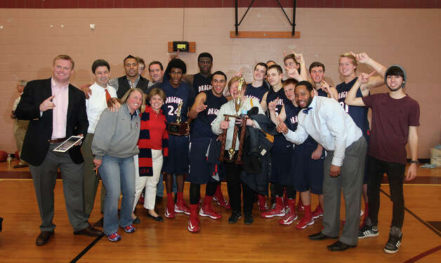 The top-seeded Greens Farms Academy boys basketball team defeated No. 3 Pingree School (Mass.) 55-50 on Sunday at Worcester Academy in Massachusetts to win the C New England championship. Photo: Contributed Photo