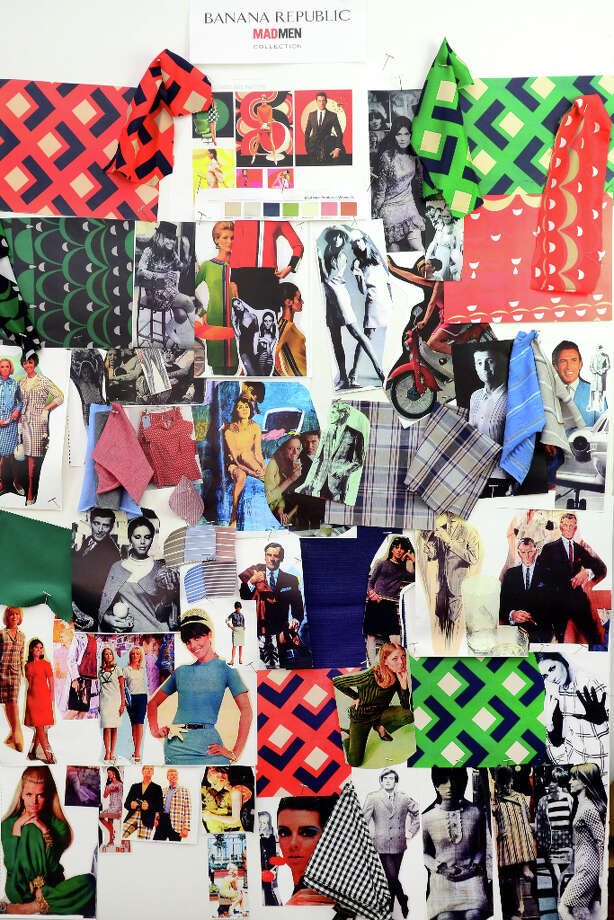 The Mad Men x Banana Republic inspiration board. Photo: (c)Homer Parkes                      / 917 494 9215