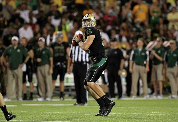 Baylor quarterback Bryce Petty vs. Southern Methodist University at Floyd Casey Stadium in Waco, Sept. 2, 2012. Photo: Baylor Athletics / Copyright © 2012 Baylor University - All Rights Reserved