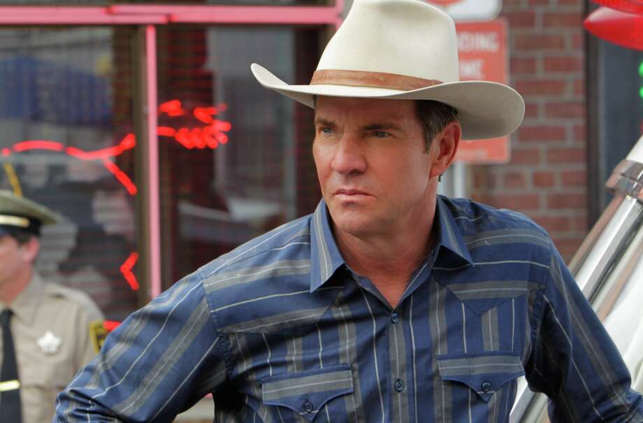 Sheriff Ralph Lamb (Dennis Quaid) considers his options  following an explosive incident at The Tumbleweed Club, on VEGAS Photo: CBS