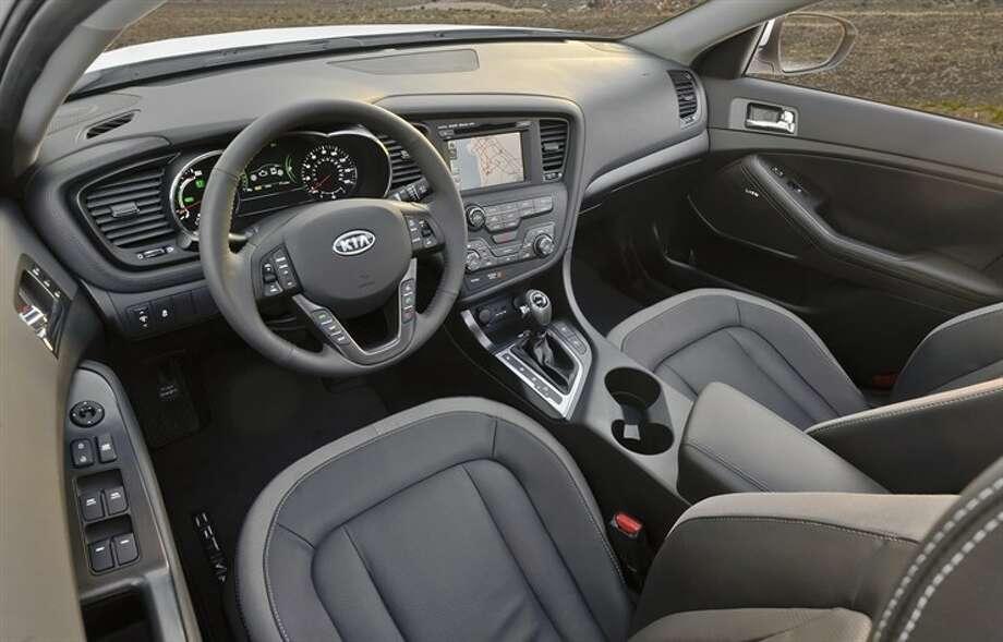 Optima hybrid front seat area