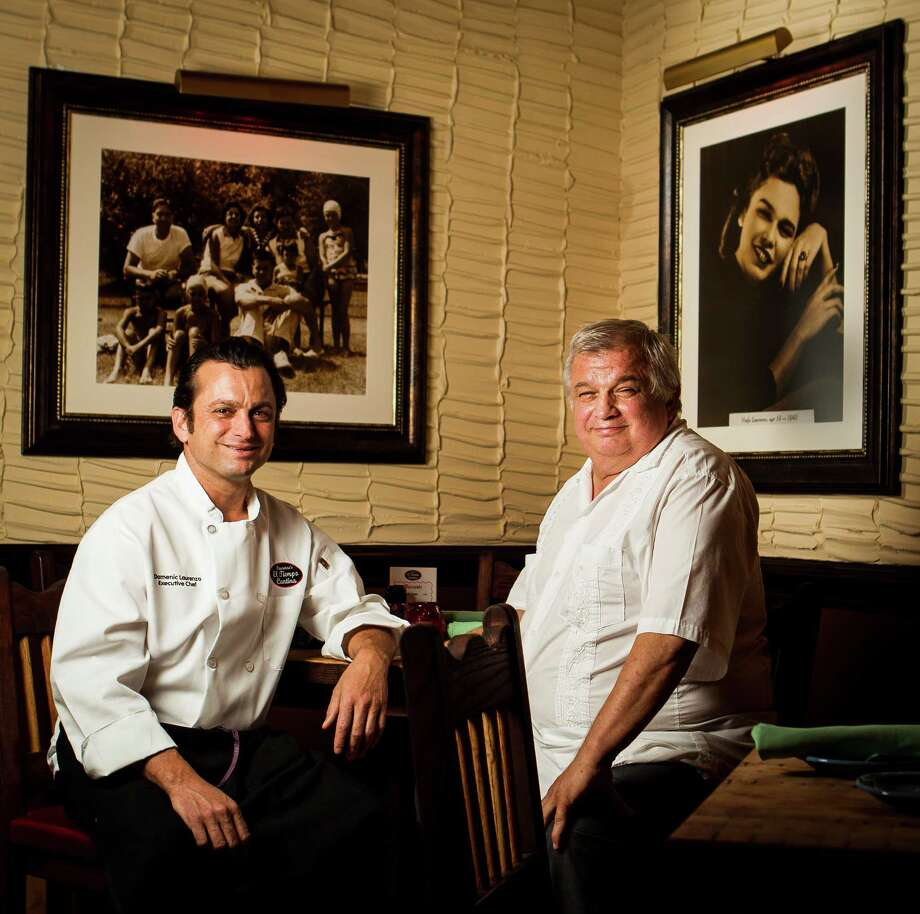 Dominic Laurenzo, left, and his father Tommy Laurenzo in El Tiempo Cantina. Photo: Nick De La Torre, Chronicle / © 2013 Houston Chronicle