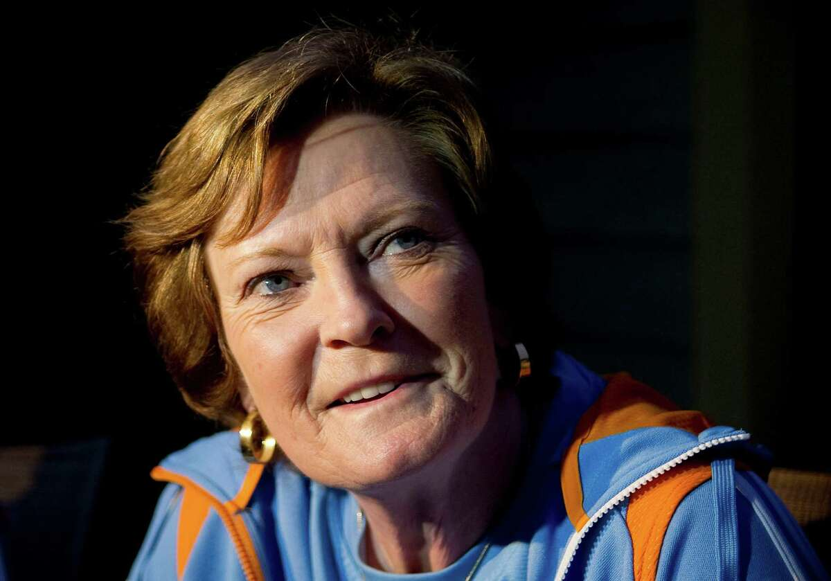 FILE - In this March 12, 2012 file photo, Pat Summitt speaks to a reporter at her home in Blount County, Tenn. Former Tennessee women's basketball coach Summitt writes in her new memoir that she struggles to recall certain facts and figures from her 38-year career but that she still recalls every player she ever coached. Her book, titled