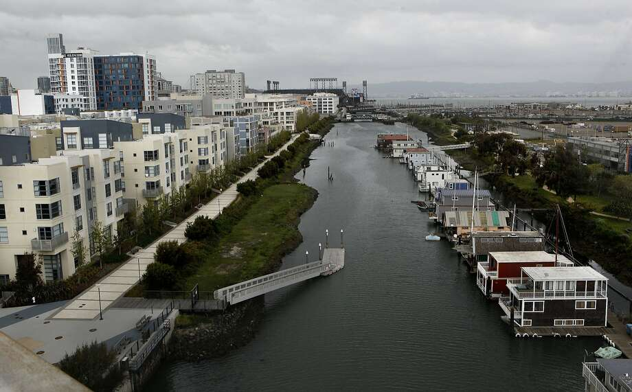 Several elements - city living, the natural environment and public meeting place - coalesce at the Mission Creek promenade. Photo: Michael Macor, The Chronicle
