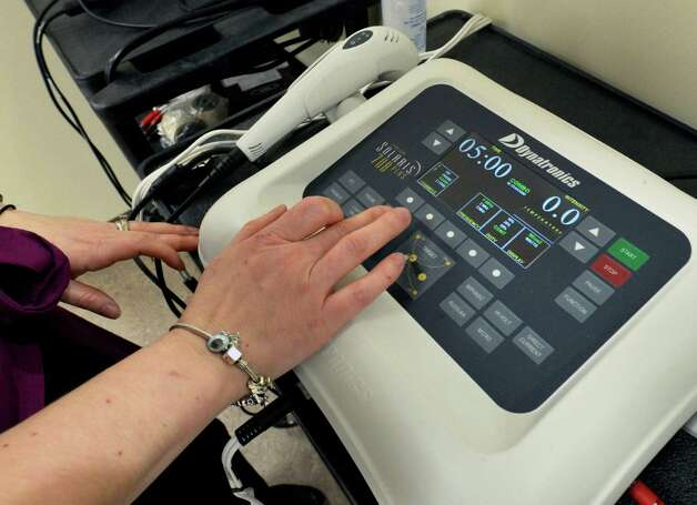 An ultrasound machine at the Sunnyview Rehabilitation Service at Latham Farms in Colonie Wednesday Feb. 27, 2013.  (John Carl D'Annibale / Times Union) Photo: John Carl D'Annibale