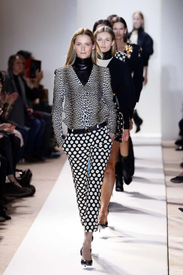 Estonian model Carmen Kaas  presents a creation for Emanuel Ungaro during the Fall/Winter 2013-2014 ready-to-wear collection show, on March 4, 2013 in Paris. AFP PHOTO/PATRICK KOVARIKPATRICK KOVARIK/AFP/Getty Images Photo: PATRICK KOVARIK, AFP/Getty Images / AFP