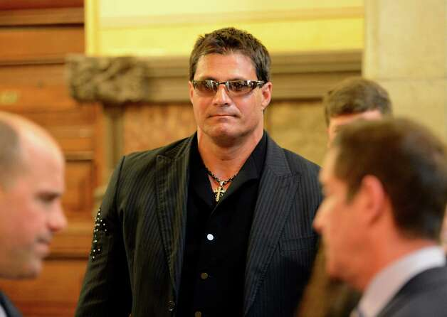 Former major league baseball player Jose Canseco arrives at the Capitol March 4, 2013 to speak to a Senate committee about the dangers of the drug DMAA and other performance enhancing drugs  (Skip Dickstein/Times Union) Photo: SKIP DICKSTEIN