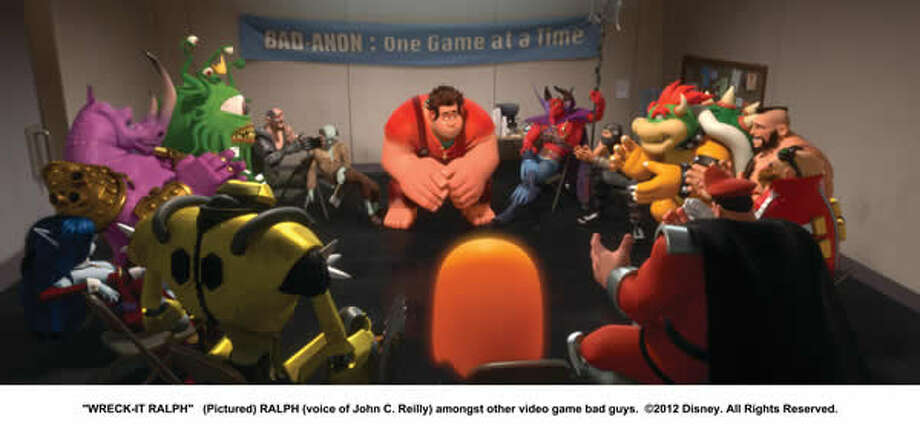 Ralph (voice of John C. Reilly) amongst other video game bad guys.