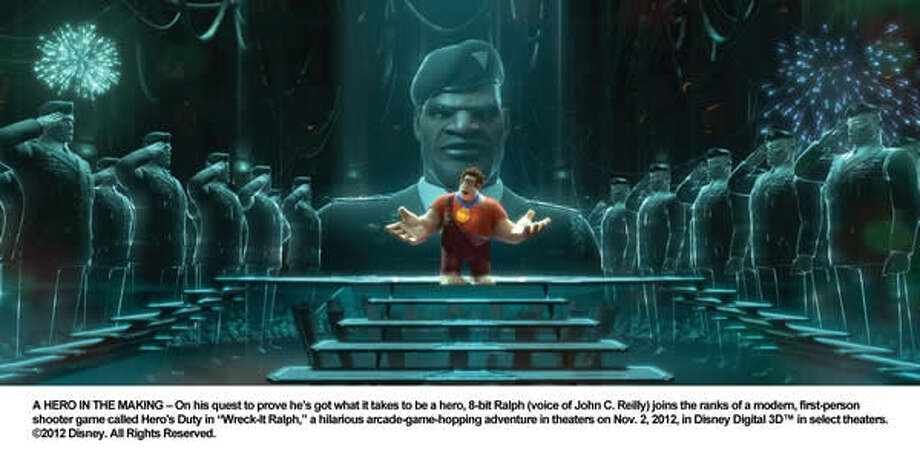 RALPH (voice of John C. Reilly) in the Hero's Duty video game.