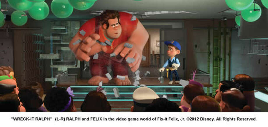 RALPH and FELIX in the video game world of Fix-It Felix, Jr.