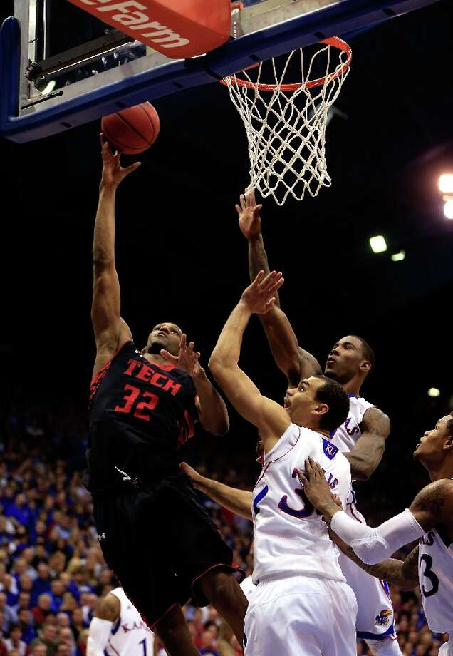 Who's hot - Texas Tech F Jordan Tolbert:Produced a season-high 22 points on 9-for-10 shooting in the Red Raiders' victory over TCU. Photo: Jamie Squire, Getty Images / 2013 Getty Images