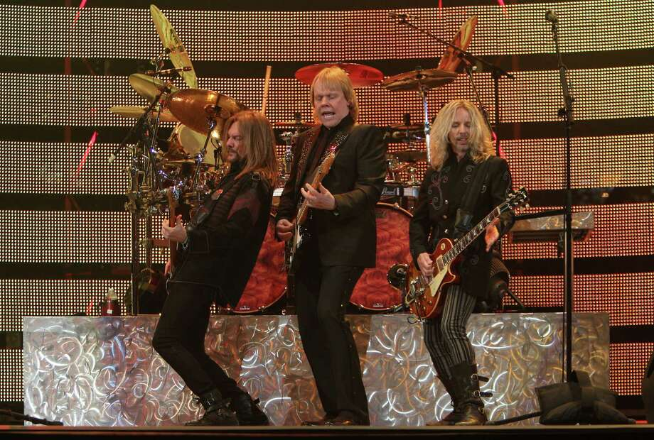Styx kept the intensity going  strong all through their show Monday night, even including a classic rock singalong featuring the anthems of top rock bands. Photo: Mayra Beltran, Staff / © 2013 Houston Chronicle