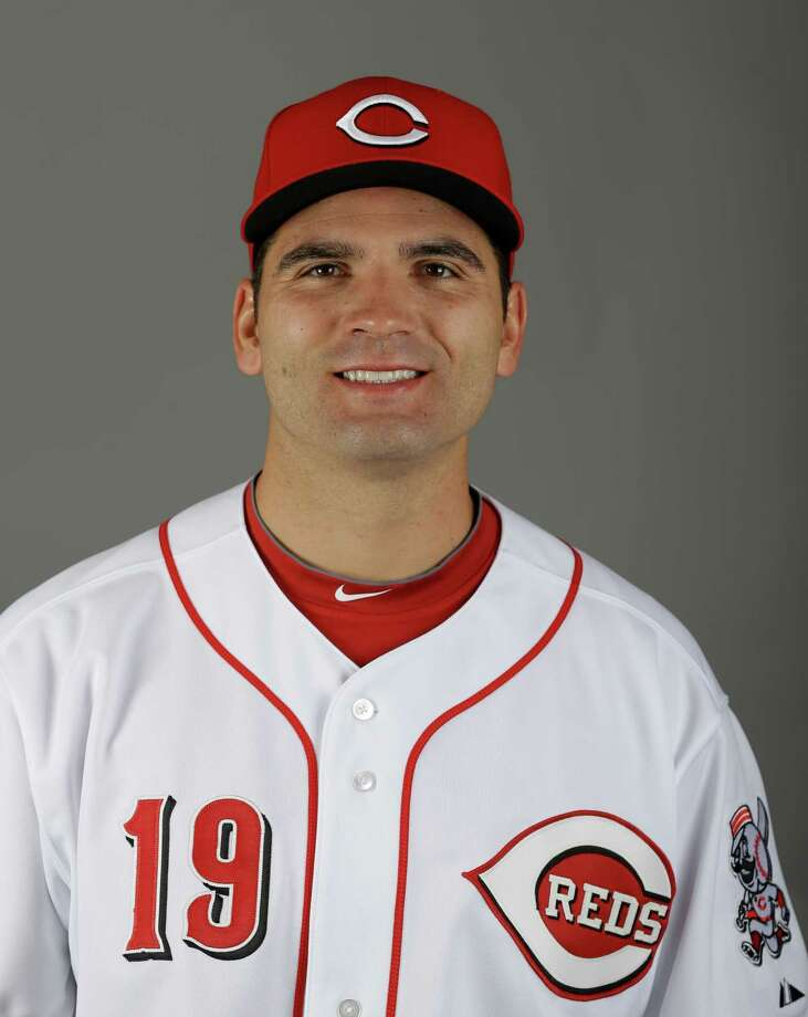 This is a 2013 photo of Cincinnati Reds first baseman Joey Votto. This image reflects the Cincinnati Reds baseball team active roster when this image was taken in Goodyear, Ariz., Saturday, Feb. 16, 2013.  (AP Photo/Paul Sancya) Photo: Paul Sancya, STF / MLBPV AP
