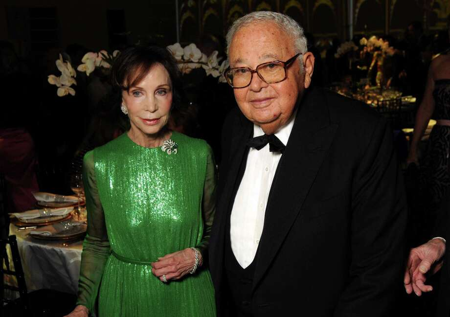 "No. 931 - Fayez ""The Sphinx"" Sarofim, a major stockholder and director at Kinder Morgan, shown with Cornelia Long at a Museum of Fine Arts Houston gala in 2012 ($1.9 billion)
