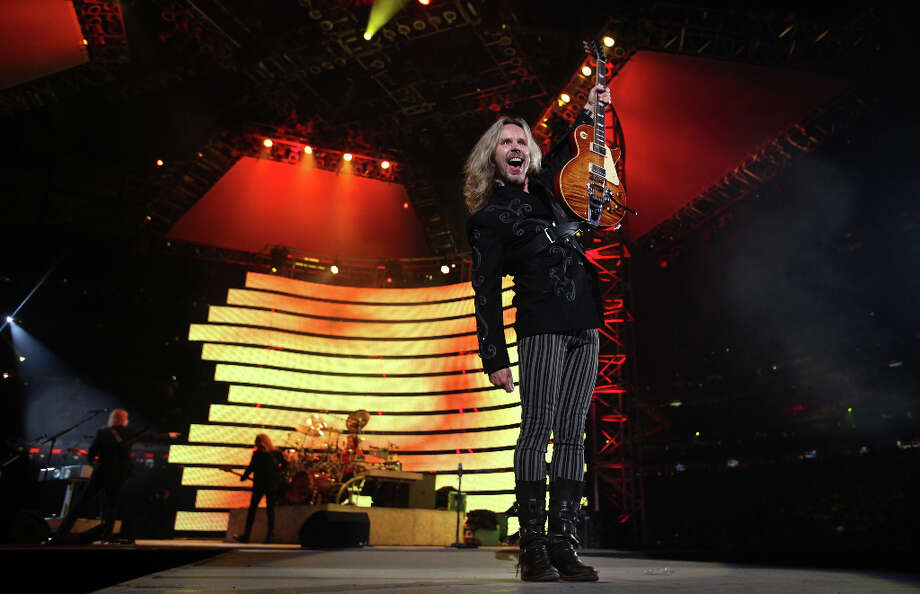 Styx performs during the Houston Livestock Show and Rodeo at Reliant Stadium on Monday, March 4, 2013, in Houston. Photo: Mayra Beltran, Houston Chronicle / © 2013 Houston Chronicle