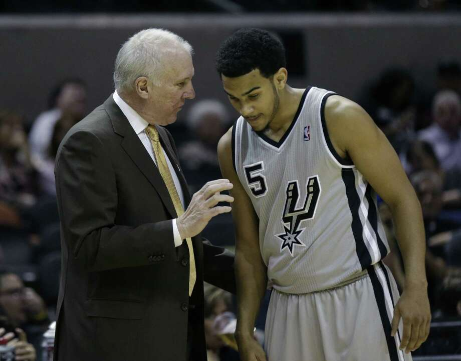 Point guard Cory Joseph scored eight points and had four assists in Sunday's rout of Detroit, but it was his defense that impressed coach Gregg Popovich. Photo: Eric Gay / Associated Press
