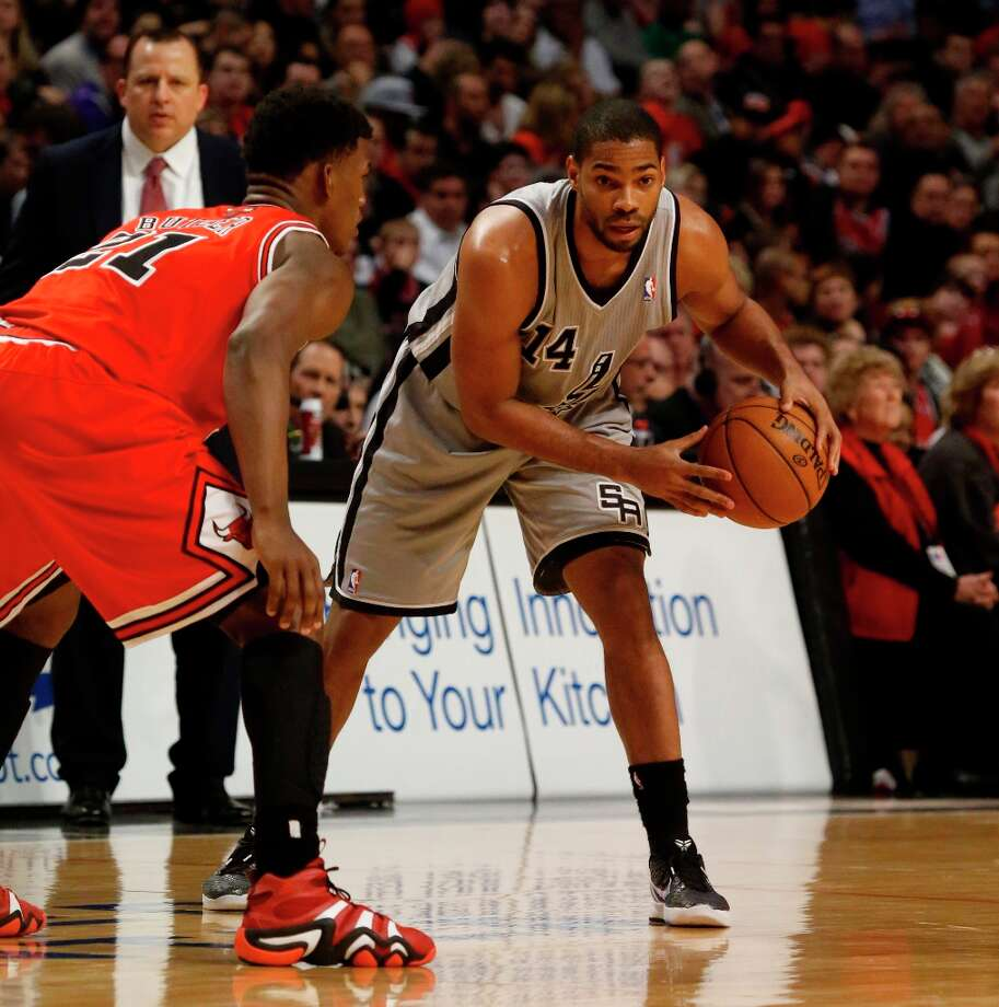Spurs guard Gary Neal (14) during the second half Monday, Feb. 11, 2013, in Chicago. The Spurs won 103-89. Photo: Charles Rex Arbogast, Associated Press / AP