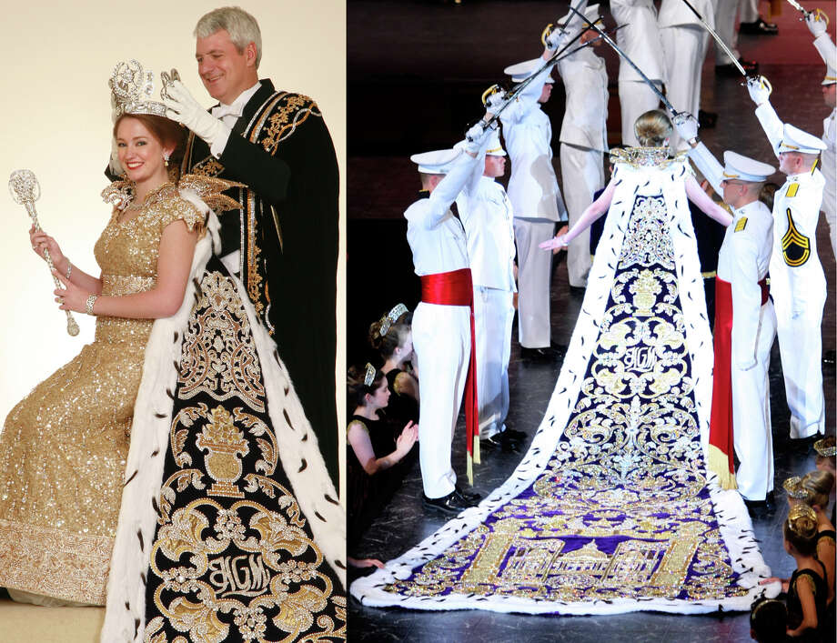 2008, Mary Elizabeth Rogers: Queen of the Court of Palatial Magnificence. Photo: LEFT: Gary Stanko / Courtesy Photo, RIGHT: William Luther / San Antonio Express-News