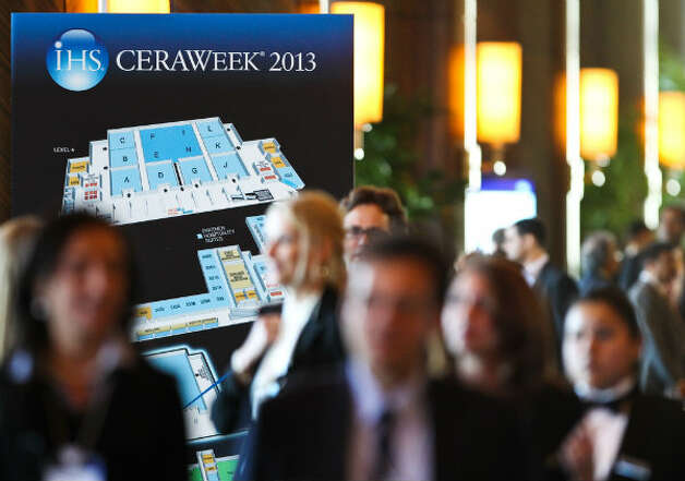 Traffic at IHS CERAWeek 2013 picks on the opening day at the Americas Hilton Houston.
