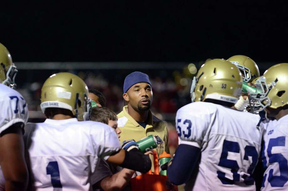 Notre Dame Fairfield High School head football coach Dawon Dicks was reportedly relieved of his coaching duties. Photo: Amy Mortensen / Connecticut Post Freelance