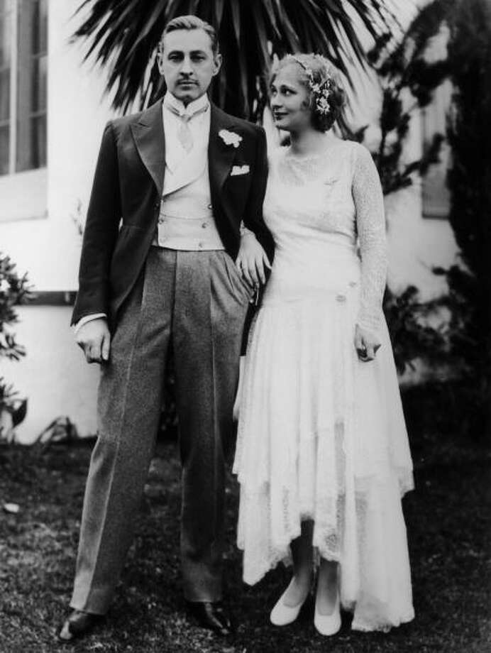 1928: American actor John Barrymore with his wife Dolores Costello  Photo: Hulton Archive, Getty / 2003 Getty Images
