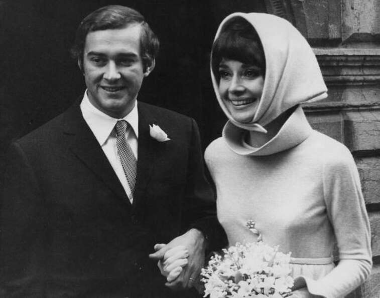 1969: Audrey Hepburn with her second husband, Italian psychiatrist Andrea Dotti